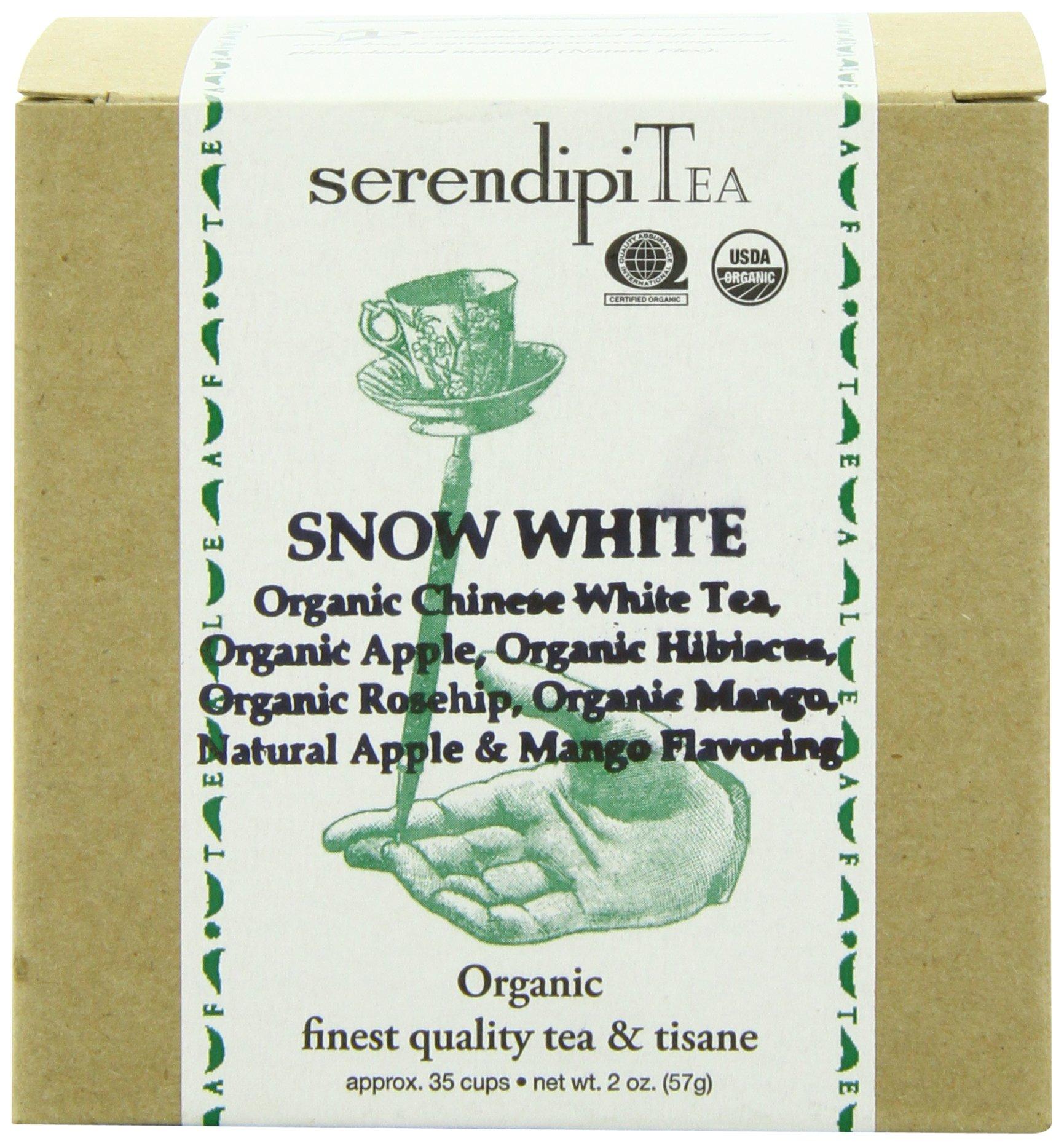 SerendipiTea Snow White, Organic White Tea & Apple, 2-Ounce Boxes (Pack of 2)