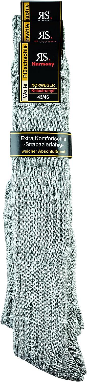 43-46, grau-mouline EXTRA NORWEGER WOLLKNIESTRUMPF 3-er PACK
