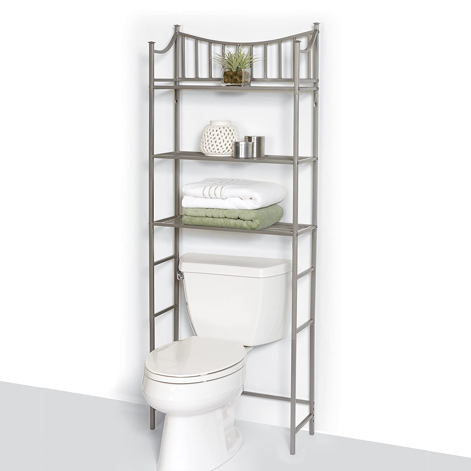 Amazon.com: Zenna Home 9065NN, Bathroom Spacesaver, Satin Nickel ...