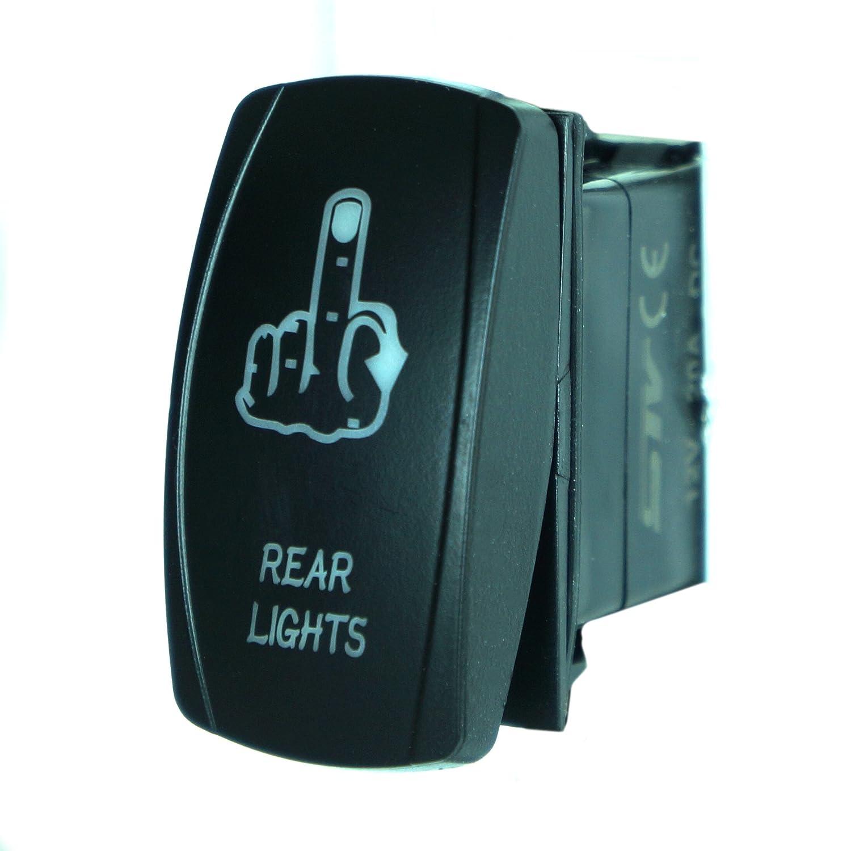 Orange Laser Rocker Switch Backlit REAR LIGHTS 12V Bright Light Powersports