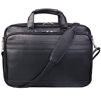 7336b65e6 Amazon.com: Mens Leather Messenger Bag Business Briefcases Office ...