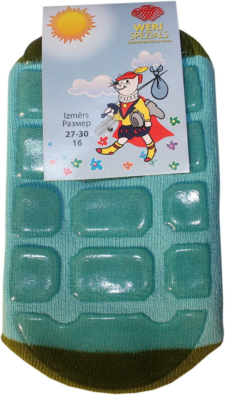 Weri Spezials Calze alte in spugna ABS Anatroccolo per Bimbo 5-6 Anni 27-30 blu verde