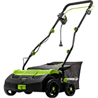 Earthwise DT71613 13-Amp 16-Inch Corded Electric Dethatcher, Green