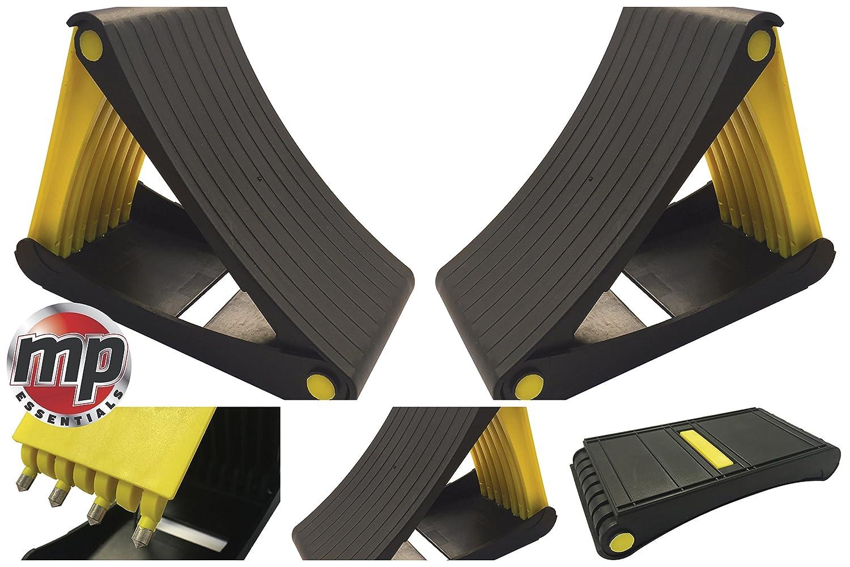 moto y remolque coche autocaravana MP Essentials Par de calcetines plegables con pinchos para caravana