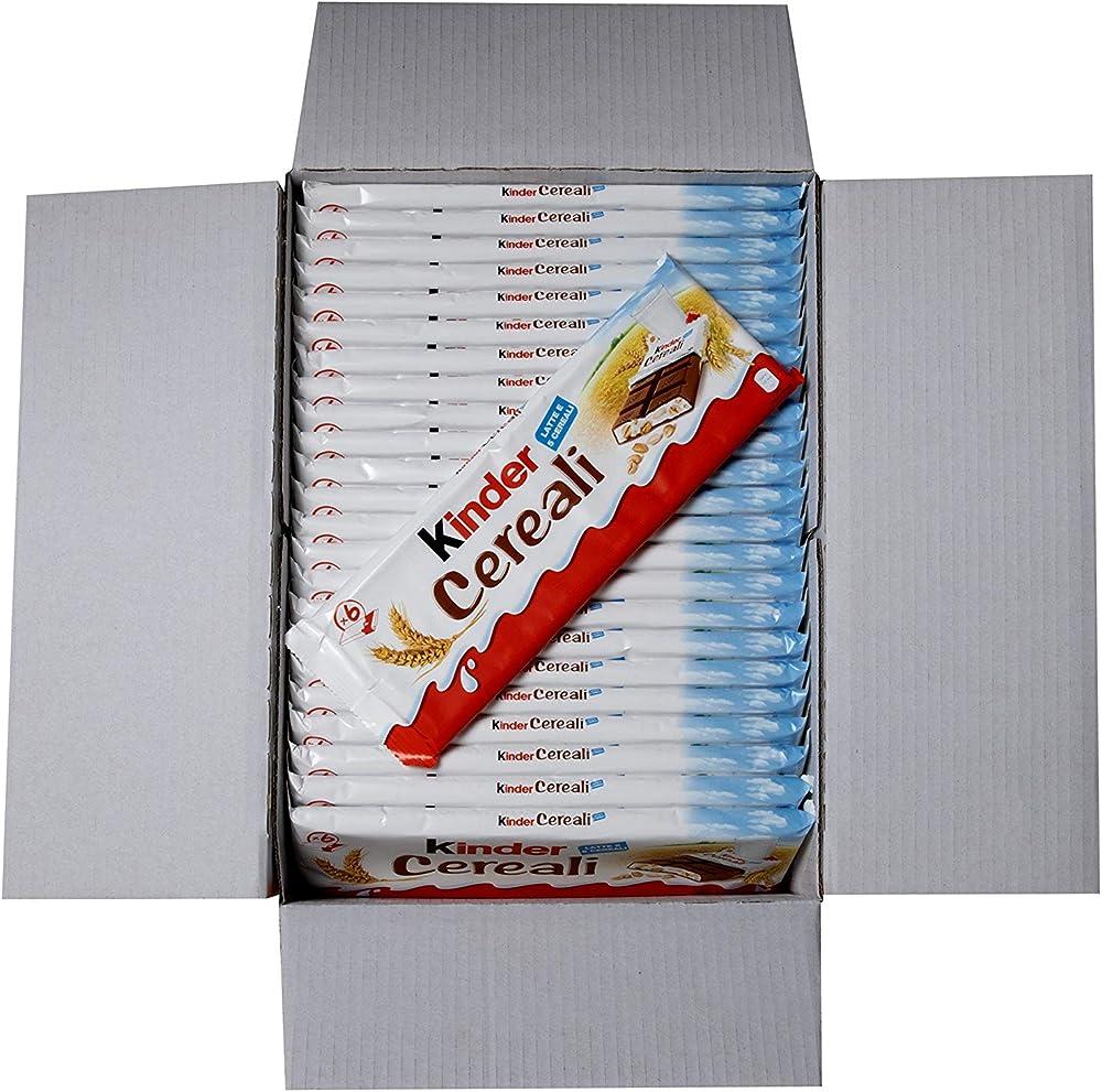 Kinder cereali, formato convenienza contenente 24 confezioni da 6 barrette