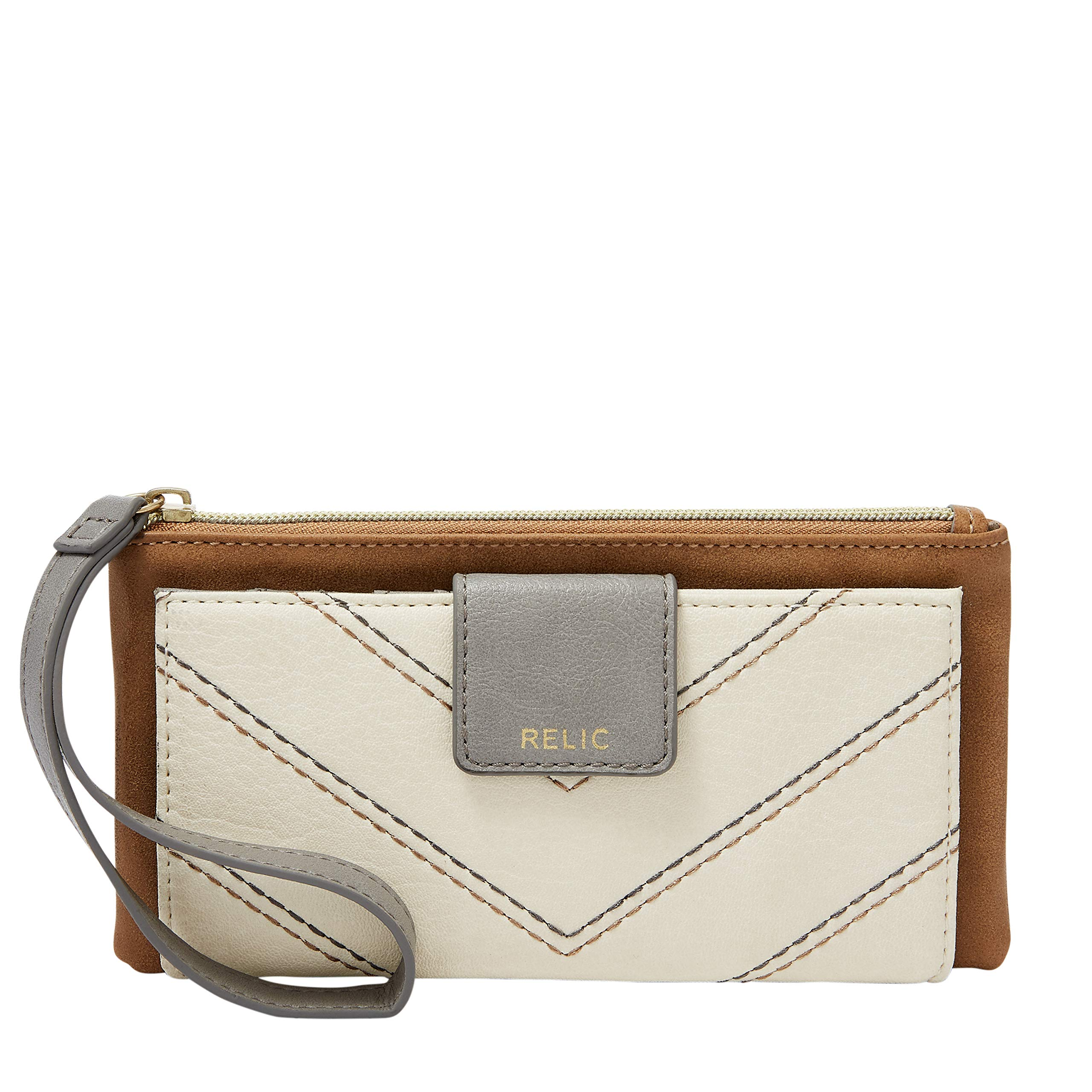 Relic by Fossil Cameron Wristlet Checkbook Neutral Multi, PVC by Relic by Fossil