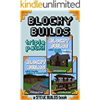 BLOCKY BUILDS - Triple Pack! - Instructions and blueprints for Minecraft house ideas and other block-building games