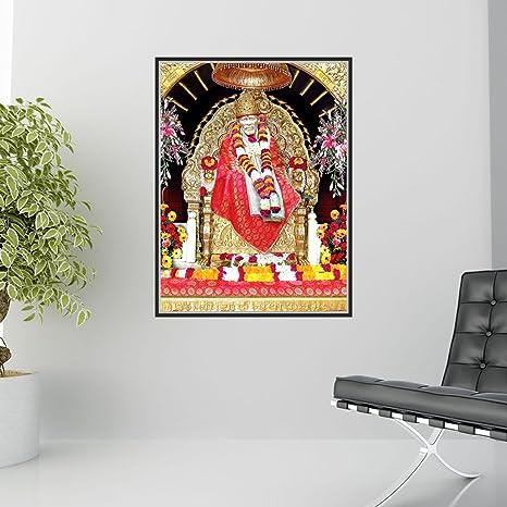 Buy Creatick Studio Sai Baba Wall Poster Wallpaper Wall Sticker