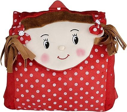 New Rakshak Girl School Bag for Kids/Baby/Girls (Red) by The Lovely Toys