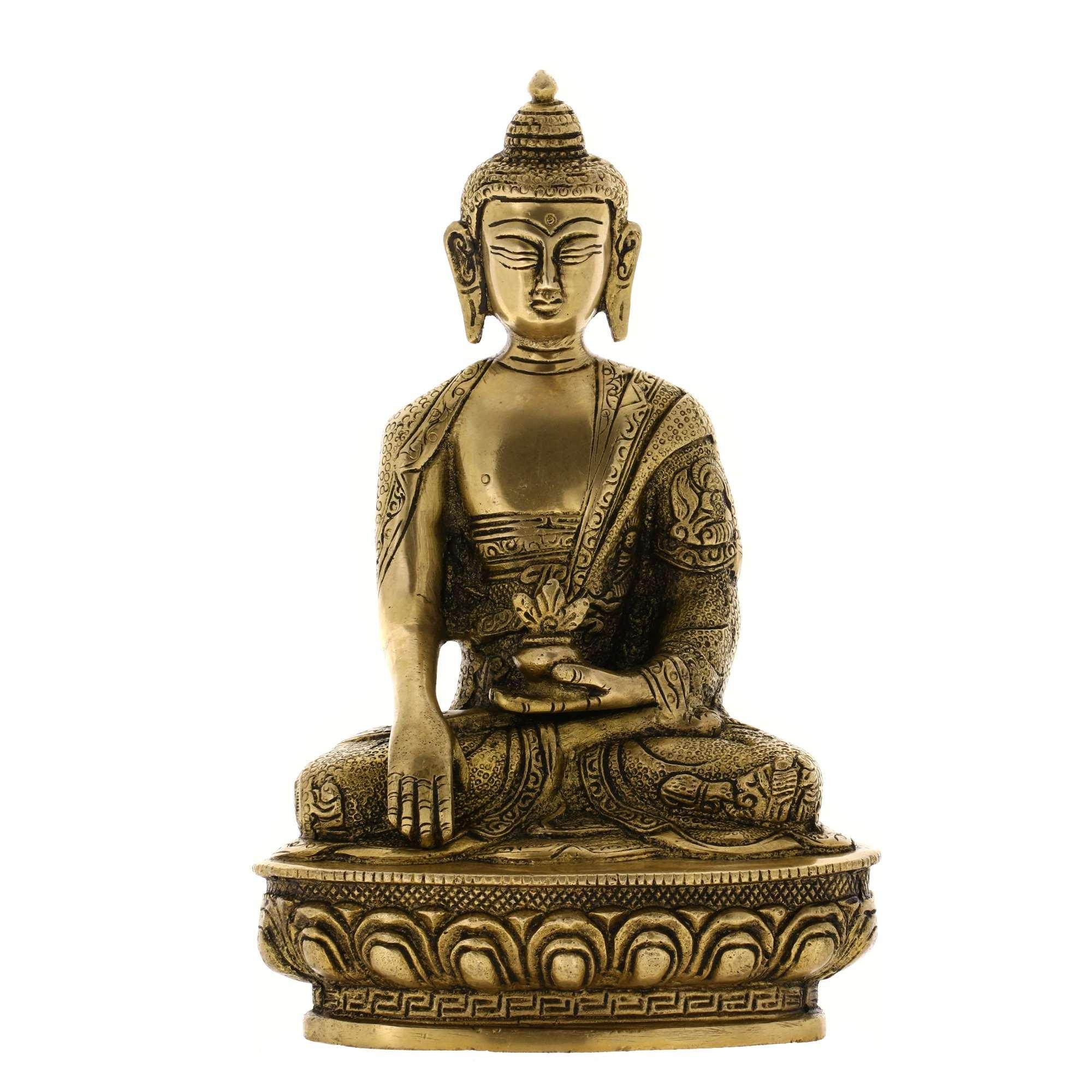 Handmade Seated Buddha Statue Sculpture India Metal Sculpture Spiritual Gifts by ShalinIndia (Image #1)