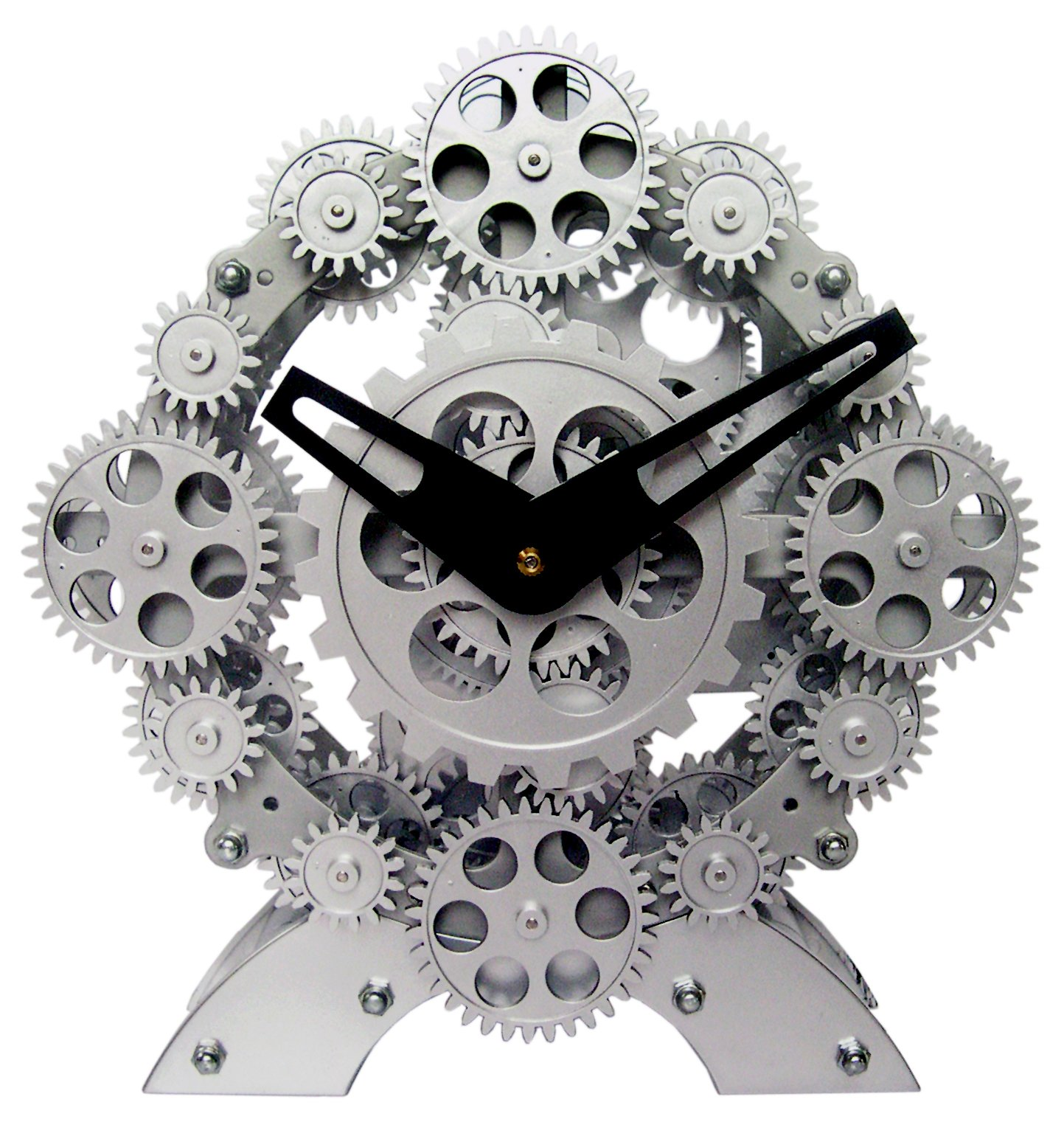Maple's Moving Gear Table Clock, Numerous Gears - Gear Movement is Independent of Time Keeping Function Numerous Moving Gears on the Ring Dial Create a Pleasing Effect Precision Quartz Movement - clocks, bedroom-decor, bedroom - 81Qv8jcqtwL -