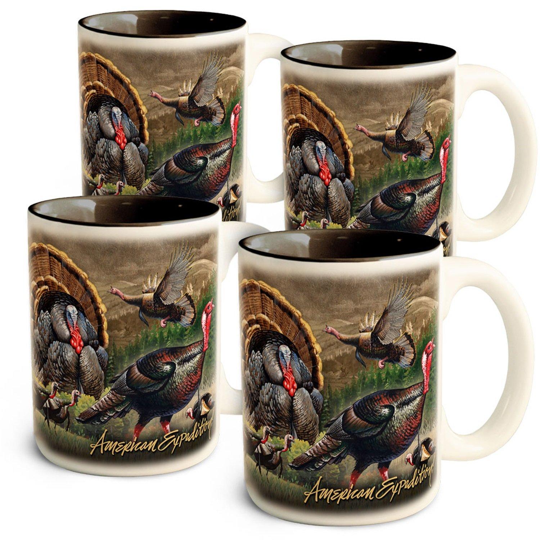 American Expedition Türkei Collage Kaffee Tassen, (4 Set)
