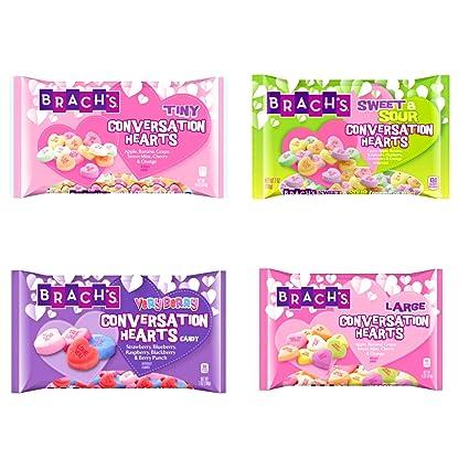 Brachs Conversation Hearts Valentines Candy Variety Pack de ...