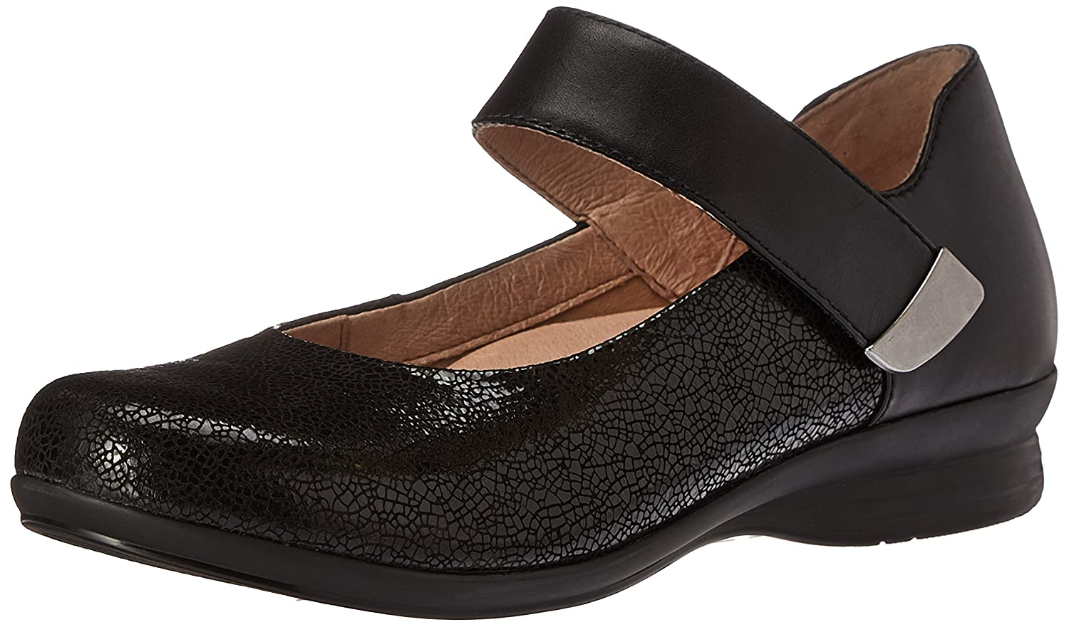 Dansko Women's Audrey Mary Jane Flat B01A02L8IK 37 EU/6.5-7 M US|Black Crackle