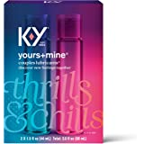 Lubricant for Him and Her, K-Y Yours & Mine Couples Lubricant, 3 fl oz, Couples Personal Lubricant and Intimate Gel, Sex…