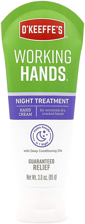 O'Keeffe's Night Treatment Hand Cream, 3 Ounce Tube, White - -