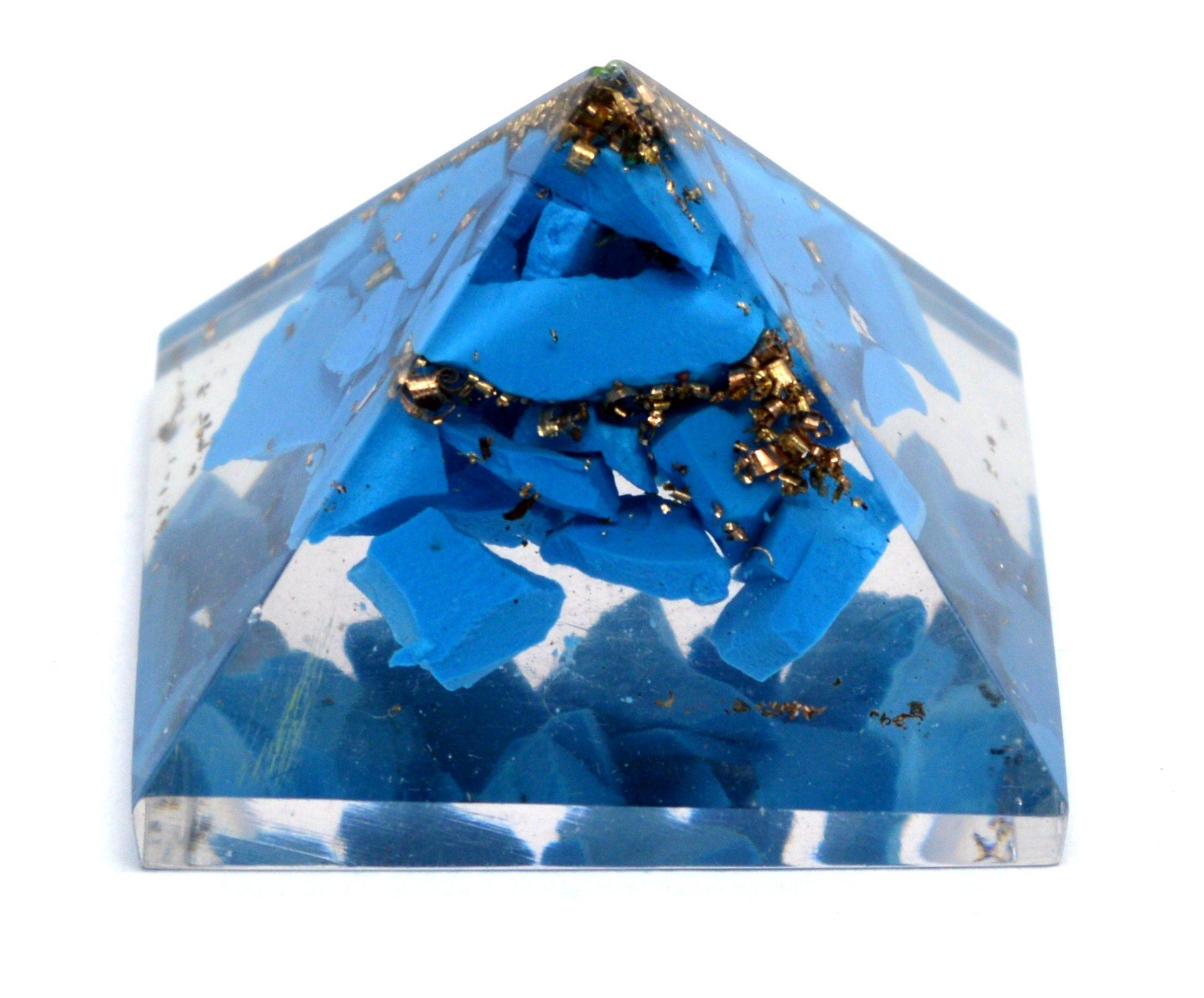 Healing Crystals India Reiki Healing Energy Charged Turqoise Crystal Chip Orgone Pyramid