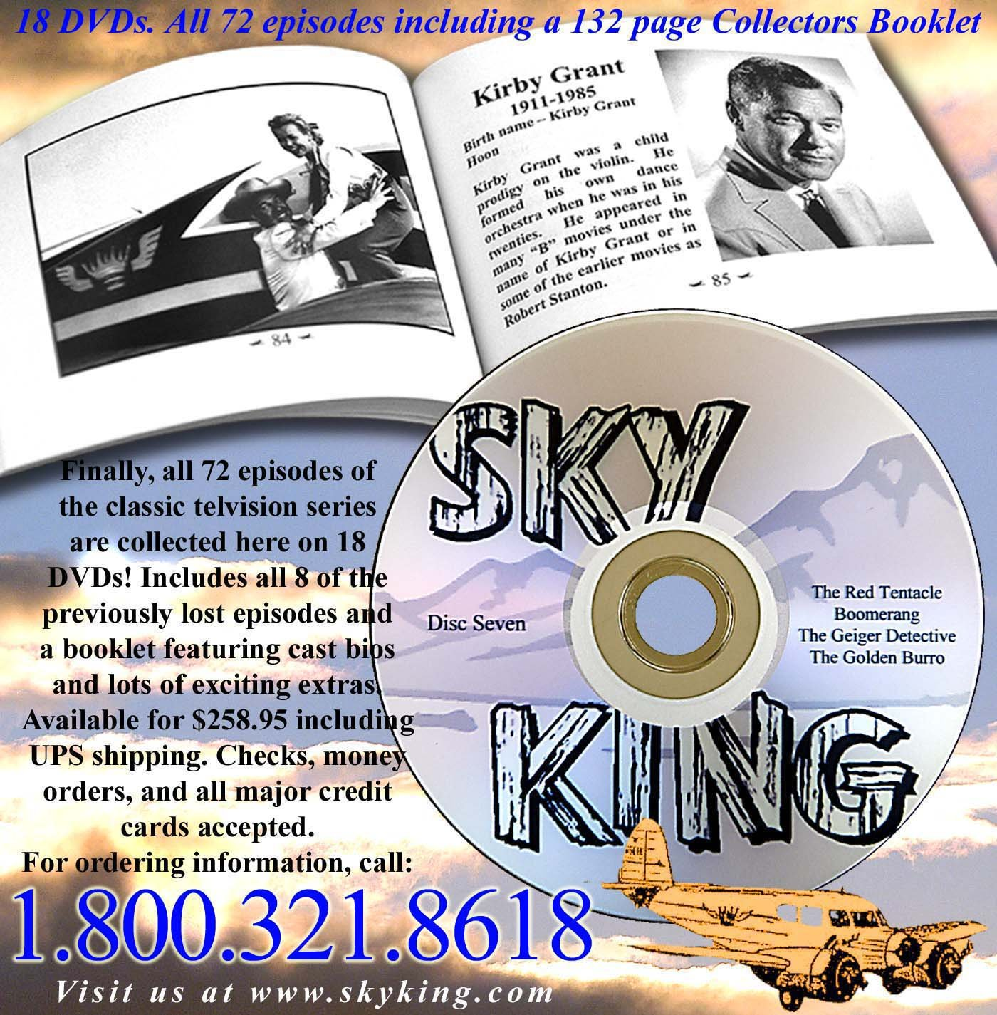 Sky King Official Box Set All 72 Episodes w/ Book