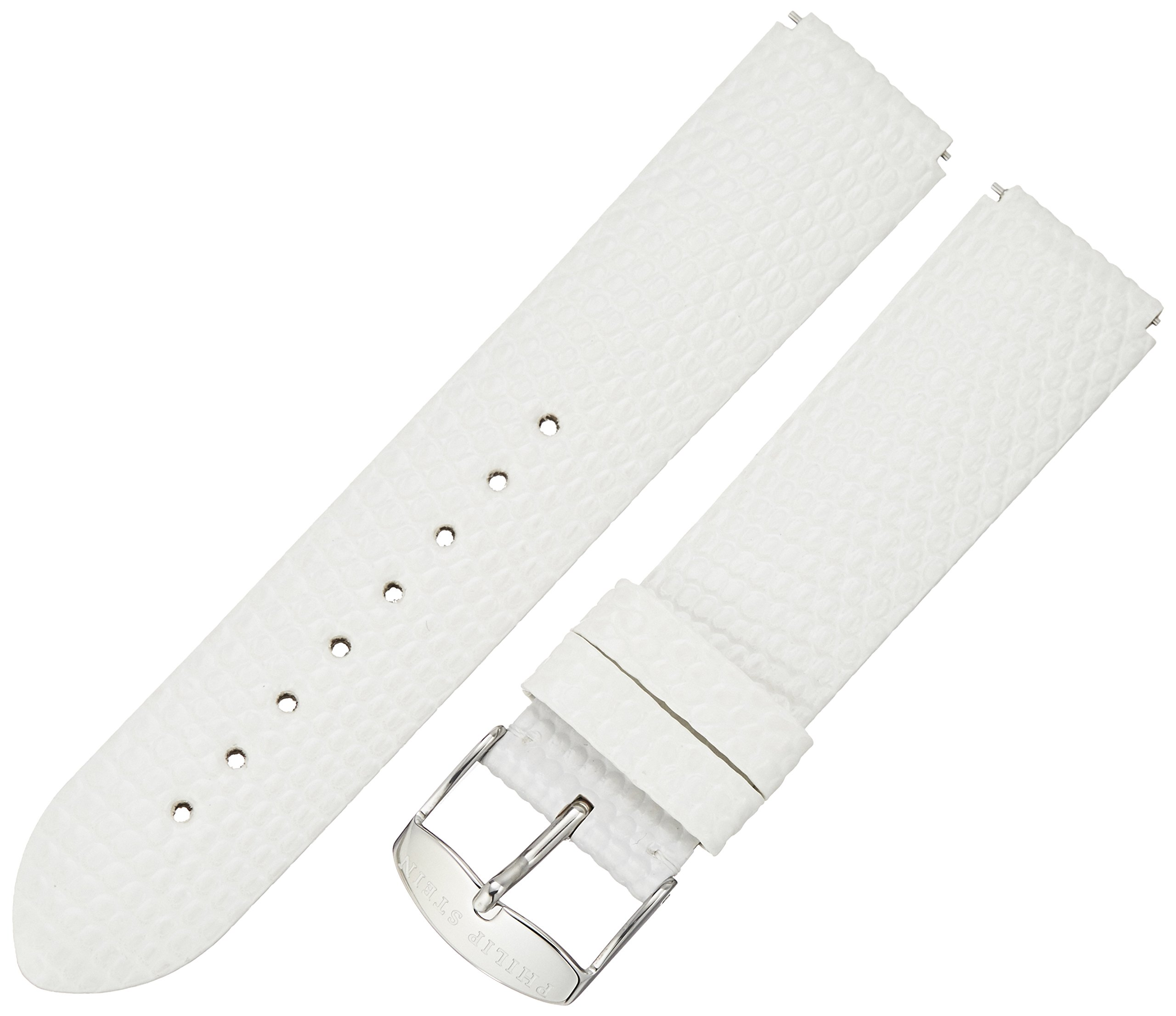 Philip Stein 2-ZW 20mm Leather Lizard White Watch Strap