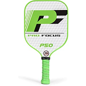 Pro Focus Pickleball Paddle P50 Pickleball Paddle - Features a Fiberglass Paddle Surface with Cushioned Grip