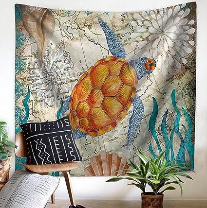 fensajomon Marino Animal Print Multi Usos Hippie India tapiz colgar en la pared, tapiz decoración