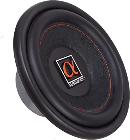 """Alphasonik HSW210 Hyper 200 Series 10/"""" 900 Watts Max 300 Watts RMS Single 4 Ohm Car Subwoofer Stamped Alpha Steel Basket with High Grade Magnet Non Pressed Paper Cone Audio Speaker Bass Sub Woofer"""