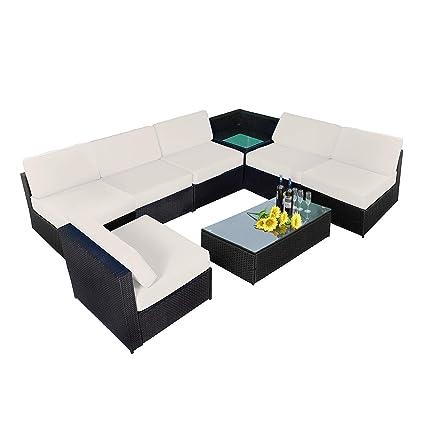 Amazon Com Mcombo Patio Wicker Furniture Indoor Outdoor Sectional