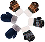 Verabella Boys Mittens Sherpa Lined Fuzzy Cuff