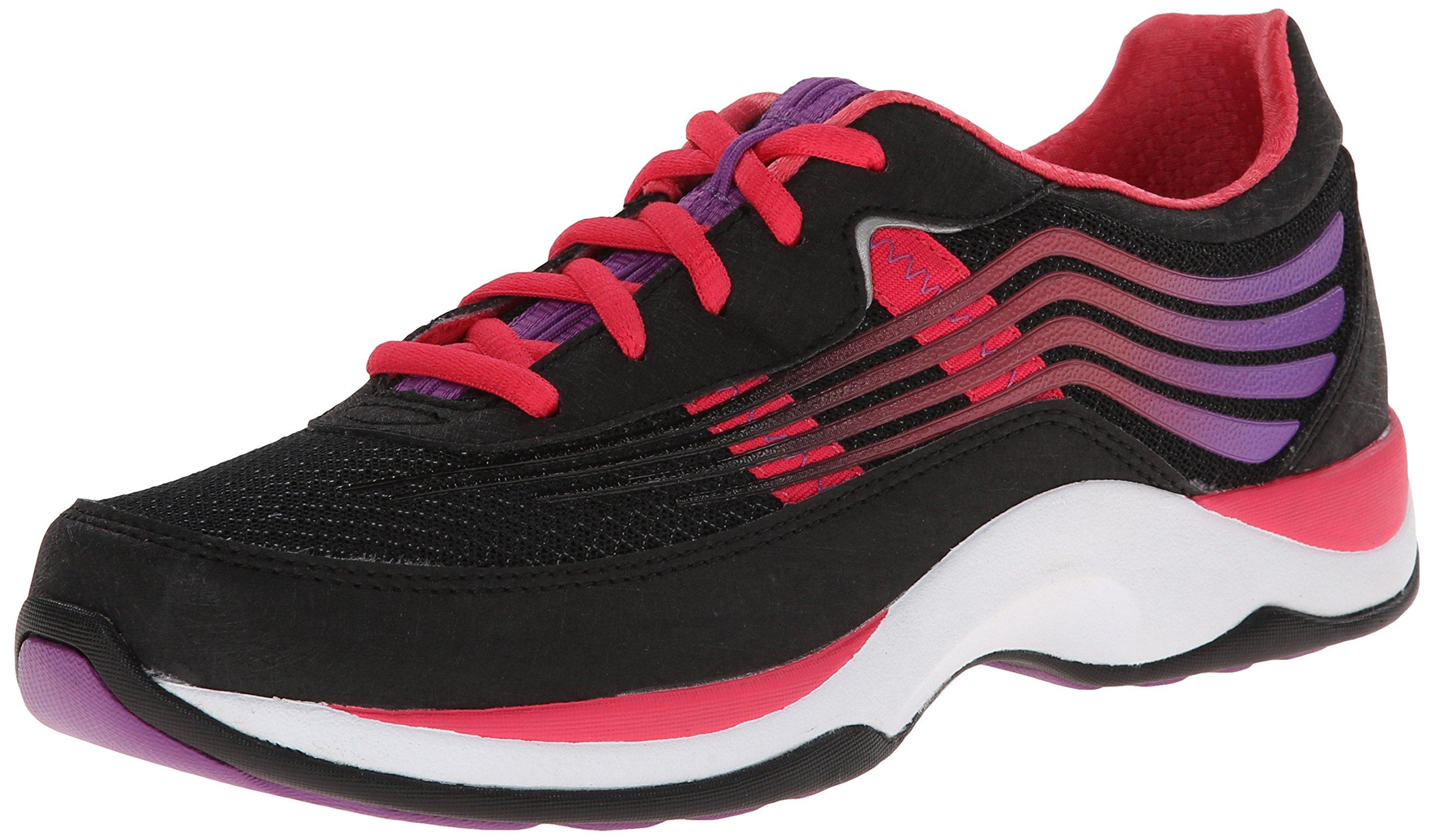 Dansko Women's Shayla Fashion Sneaker, Black/Hot Pink Smooth, 36 EU/5.5-6 M US