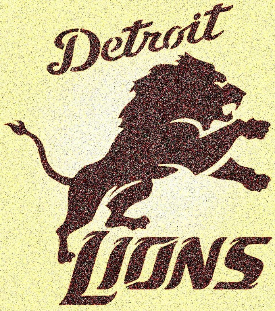 Amazon Com Detroit Lions Logo Stencil Mancave Sports Football Stencils