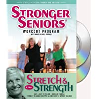 Stronger Seniors® Stretch and Strength DVDs- 2 disc Chair Exercise Program- Stretching...