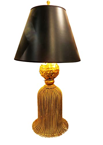 """Amazon.com: 36"""" Oro Borla de hierro lámpara de mesa ..."""