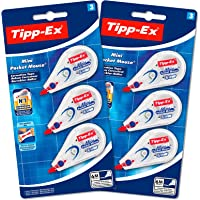 Tipp-Ex Mini Pocket Mouse Rubans Correcteurs - 6 m x 5 mm, Lot de 2 Blisters de 3