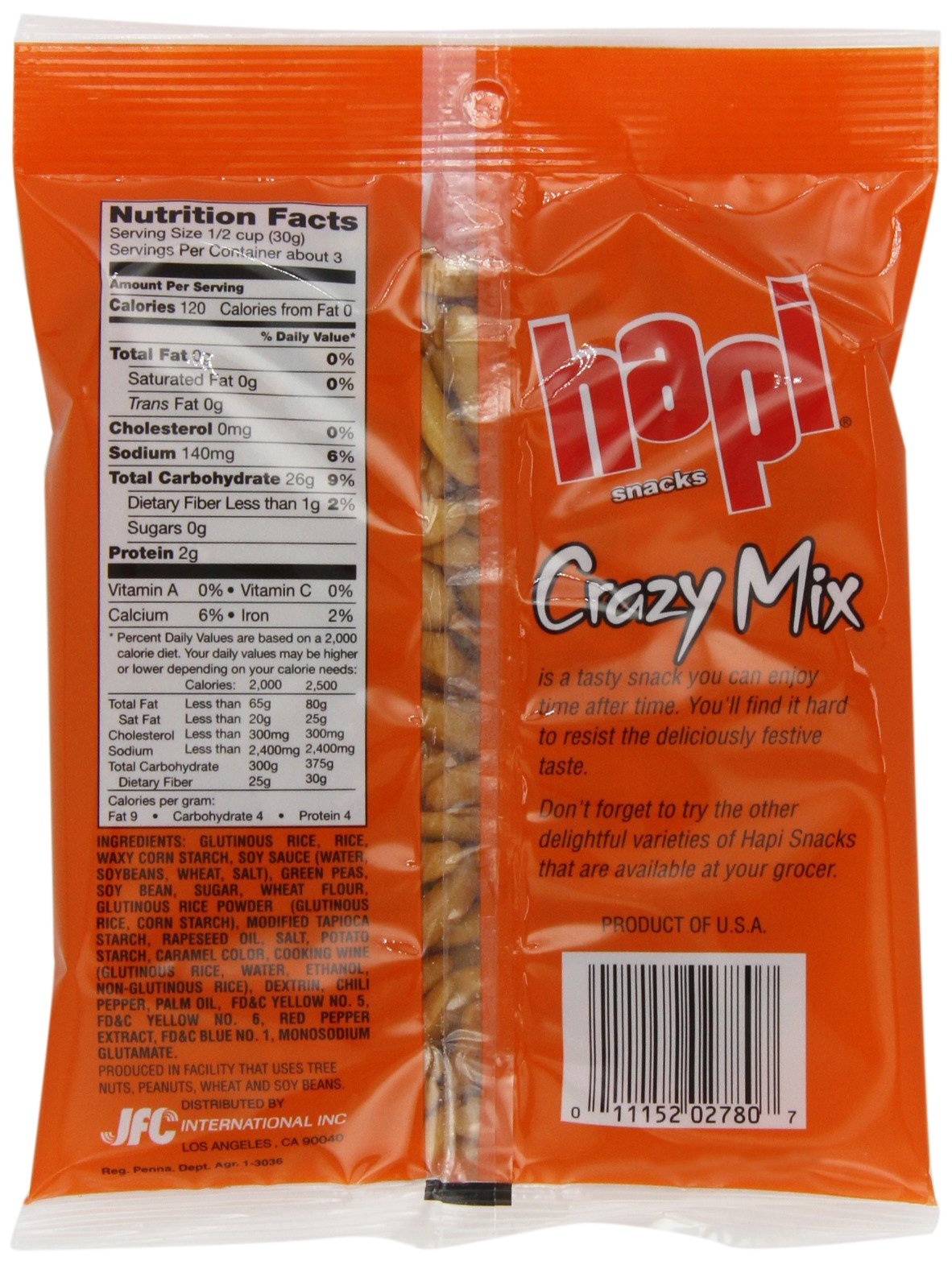 Hapi Crazy Mix Rice Crackers, 3-Ounce Bags (Pack of 12) by HAPI (Image #3)