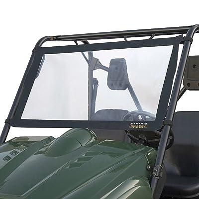 Classic Accessories QuadGear UTV Windshield For Kawasaki Mule 2500/3000 & Polaris Ranger, Black: Automotive