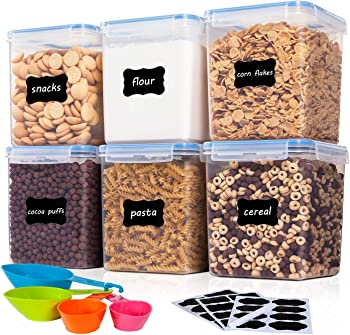 6-Pieces Vtopmart 4.3L / 145.4oz Food Storage Containers