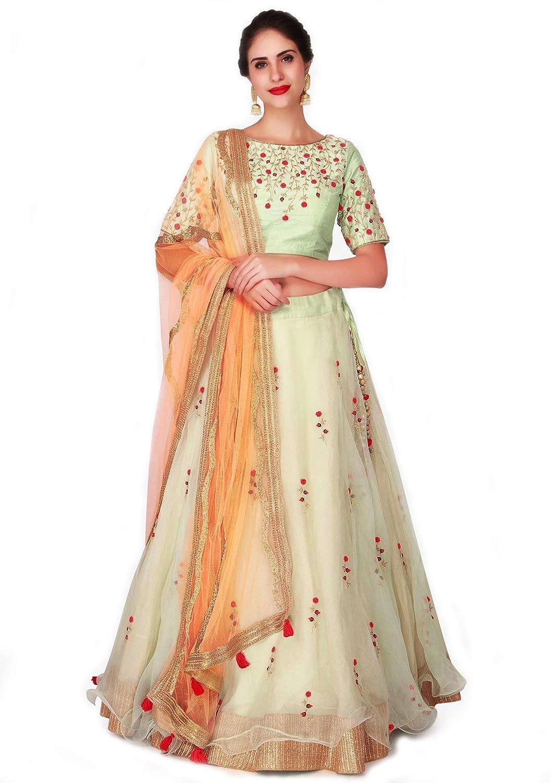 Sandar Fab Net Saree (Net-1_Light green_Free Size)