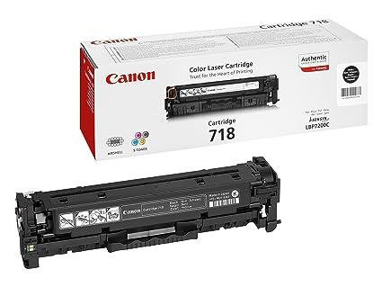Canon 718 Bk Cartucho de toner original Negro para Impresora Laser ...