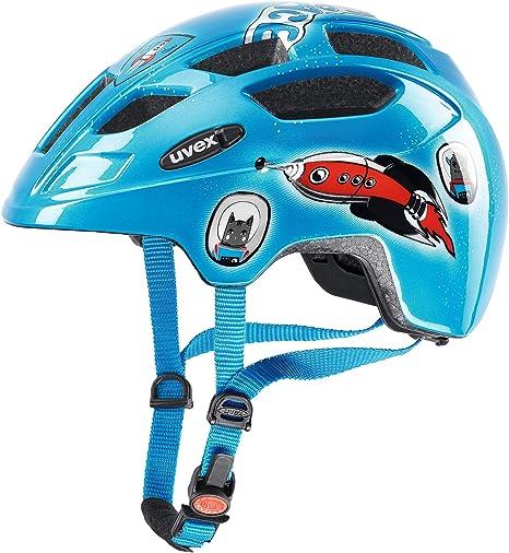 Uvex Finale Junior LED Casco de Bicicleta, Niños, Azul, 47-52 cm: Amazon.es: Deportes y aire libre