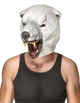 Máscara látex oso polar adulto - Única