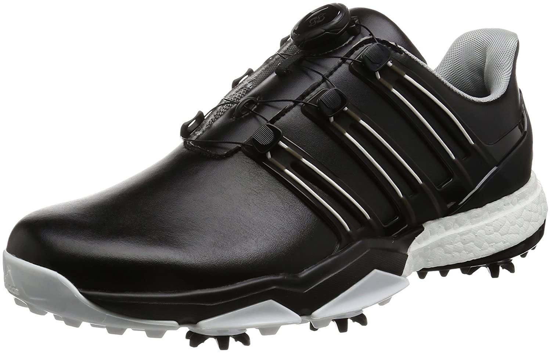 [アディダスゴルフ] ゴルフシューズ パワーバンド ボア ブースト powerband Boa boost B01NGTONR0 25 3E コアブラック/コアブラック/ホワイト