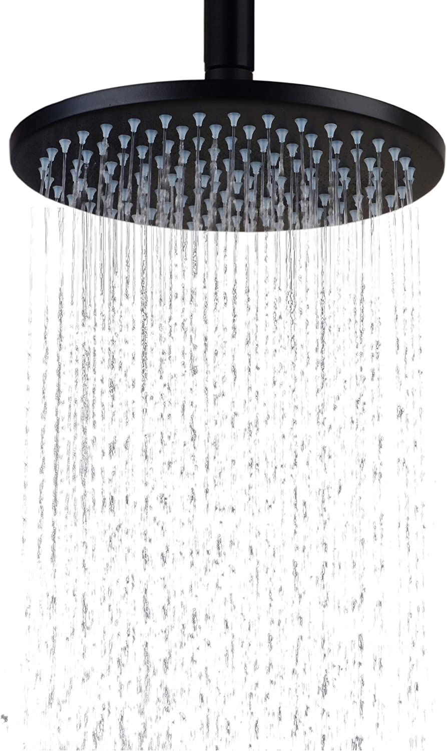 Hiendure 8 Inch Ceiling Mount Stainless Steel Stain Round Rainfall Shower Head,Oil Rubbed Bronze