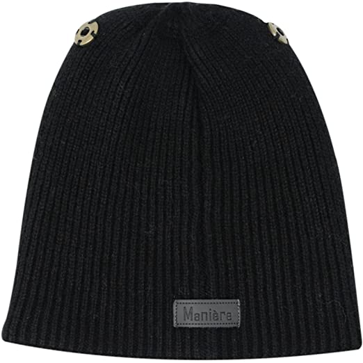 ae2770673 Amazon.com: Maniere Unisex Child Wool Blend Knit Beanie Hat With ...