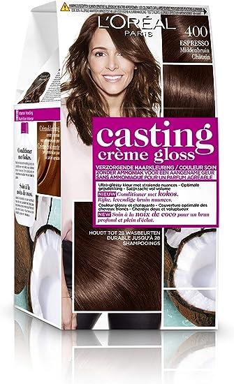 LOréal Paris Casting Crème Gloss 400 Espresso coloración del cabello Marrón - Coloración del cabello (Marrón, Blackberry, Bélgica, 73 mm, 83 mm, 170 ...