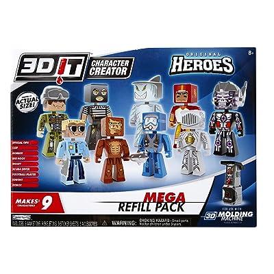 3DIT Original Heroes Mega Refill Set: Toys & Games