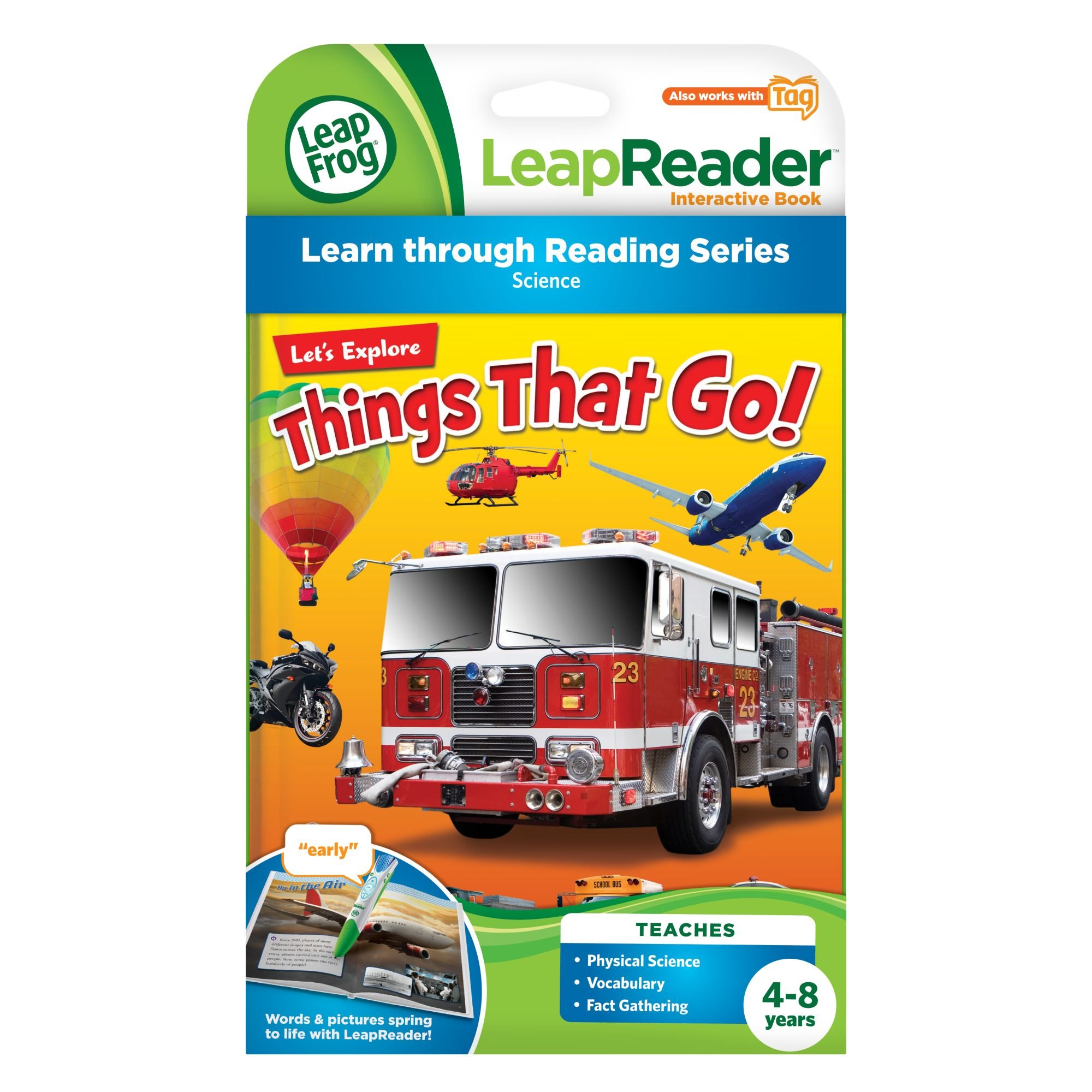 LeapFrog LeapReader Book: Let's Explore Things That Go! (works with Tag) by LeapFrog (Image #3)
