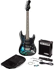Paquete de guitarra eléctrica estilo Jaxville Hades ST