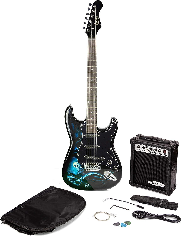 RockJam Hades Paquete de guitarra eléctrica con amplificador de ...