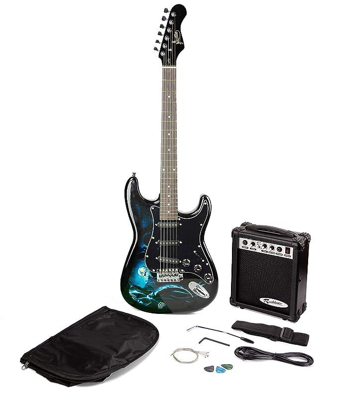 Paquete de guitarra eléctrica estilo Jaxville Hades ST: Amazon.es: Instrumentos musicales