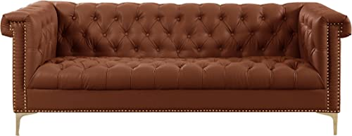 Iconic Home Winston PU Leather Modern Contemporary Button Tufted